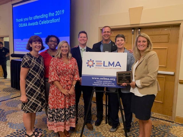 Ohio Educational Library Media Association Presented Superintendent Jim Sotlar with the Outstanding Administrator Award for 2019! Assistant Superintendent Kiya Hunt Accepted the Award on His Behalf.
